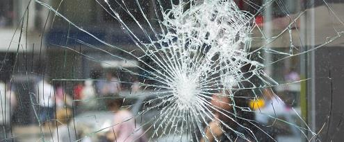 Glasschade barst